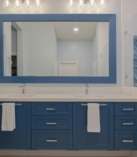 Caribbean Blue Master Bathroom